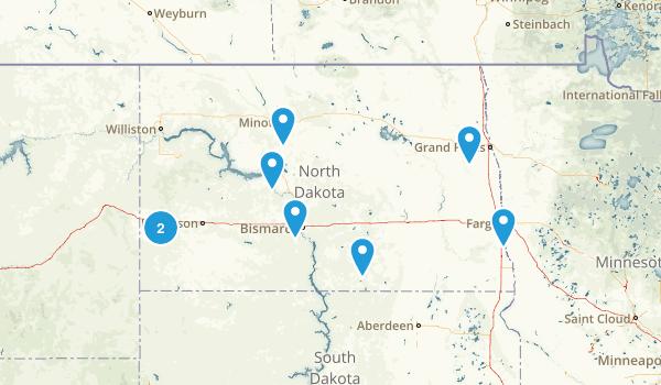 North Dakota Mountain Biking Map