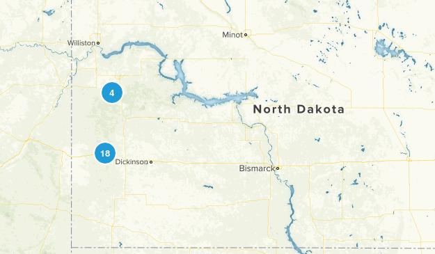 North Dakota National Parks Map
