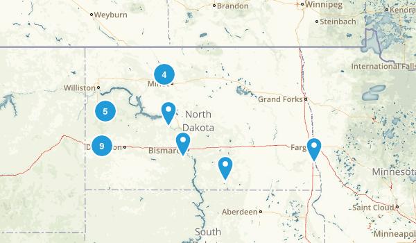 North Dakota Nature Trips Map