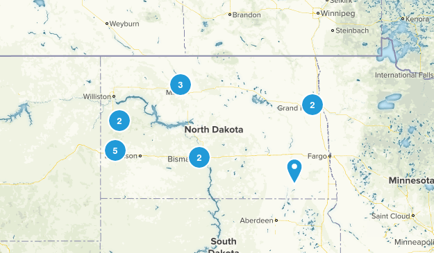 North Dakota River Map