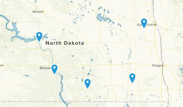 North Dakota State Parks Map