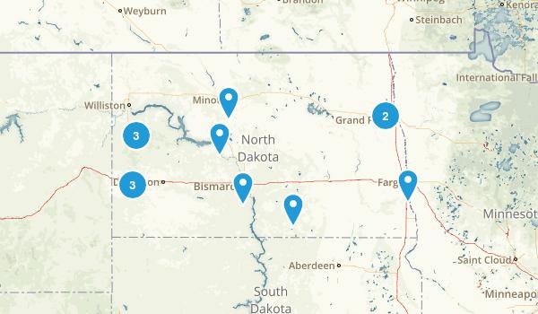 North Dakota Trail Running Map