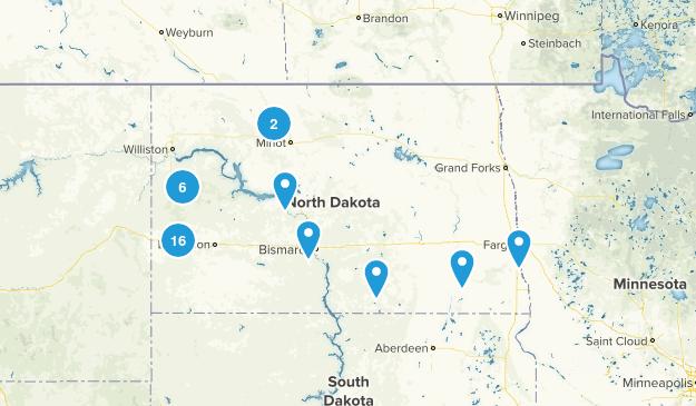 North Dakota Views Map