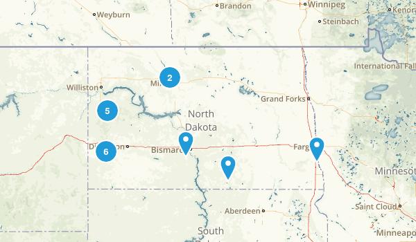North Dakota Wild Flowers Map
