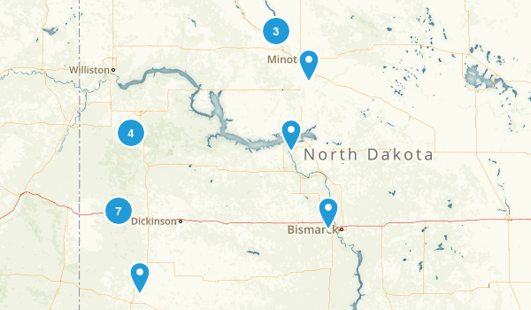 North Dakota Wildlife Map