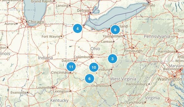 Ohio Camping Map