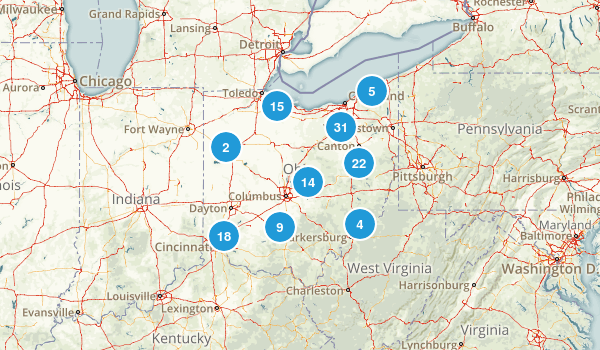 Ohio Mountain Biking Map