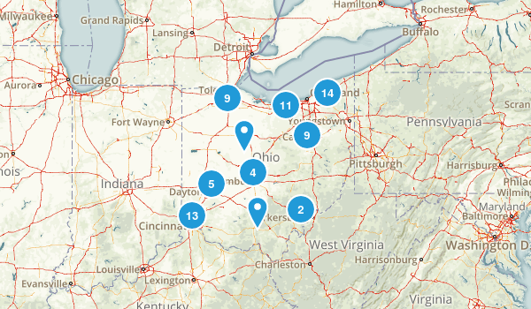 Ohio Road Biking Map