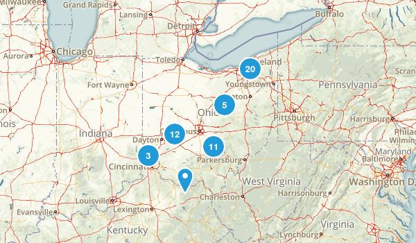 Ohio Waterfall Map