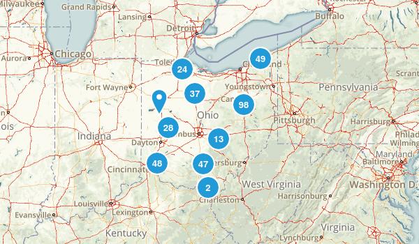 Ohio Wild Flowers Map