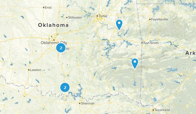 Oklahoma Beach Map