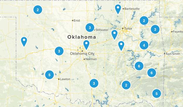 Oklahoma Camping Map