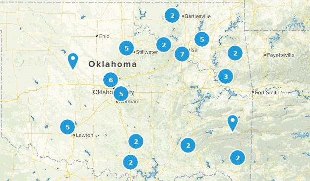 Oklahoma Mountain Biking Map