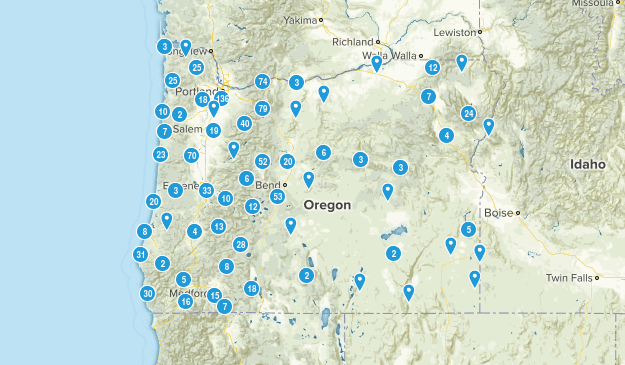 Oregon Birding Map