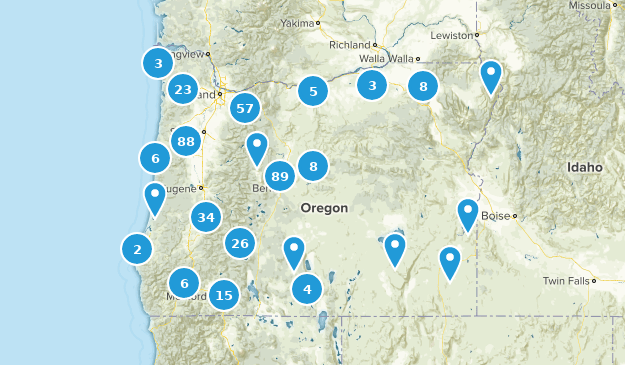 Oregon Mountain Biking Map