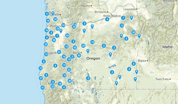 Oregon Nature Trips Map
