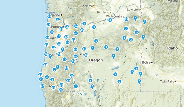 Oregon Nature Trips Map