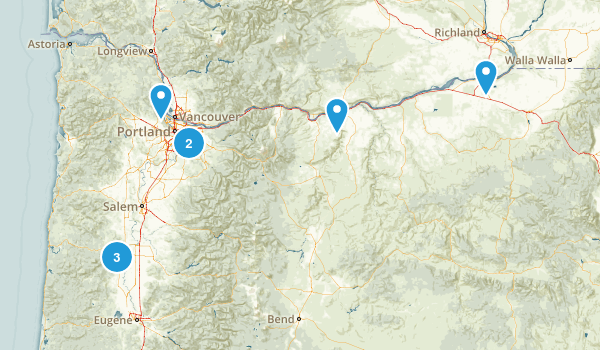 Oregon Rails Trails Map