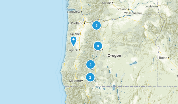 Oregon Skiing Map