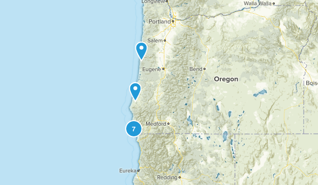 Oregon Surfing Map