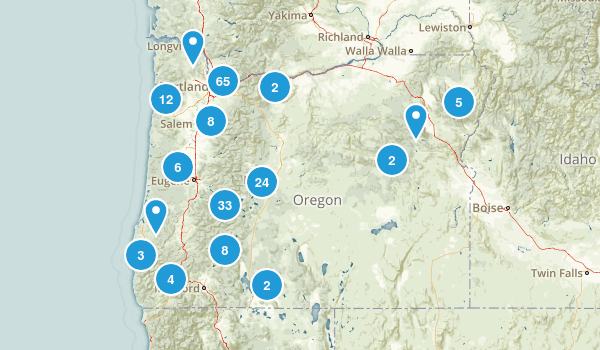 Map Of Oregon Waterfalls Tidal Treasures - Oregon waterfalls map
