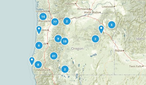 Oregon Waterfall Map