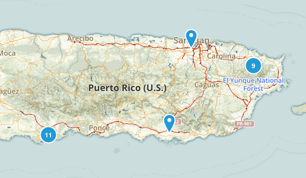 Best Hiking Trails In Puerto Rico Photos Reviews - Us puerto rico map