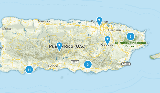 Puerto Rico Hiking Map
