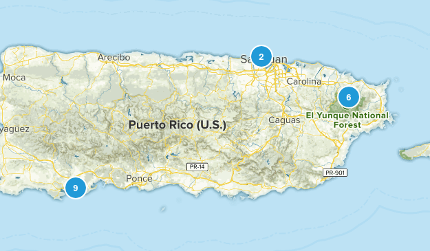 Puerto Rico Kid Friendly Map