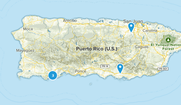 Puerto Rico Mountain Biking Map