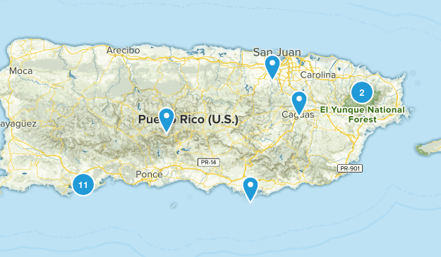 Puerto Rico Nature Trips Map