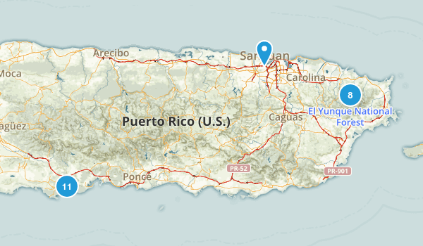 Puerto Rico Parks Map