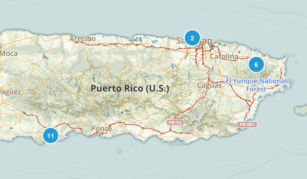 Puerto Rico Walking Map