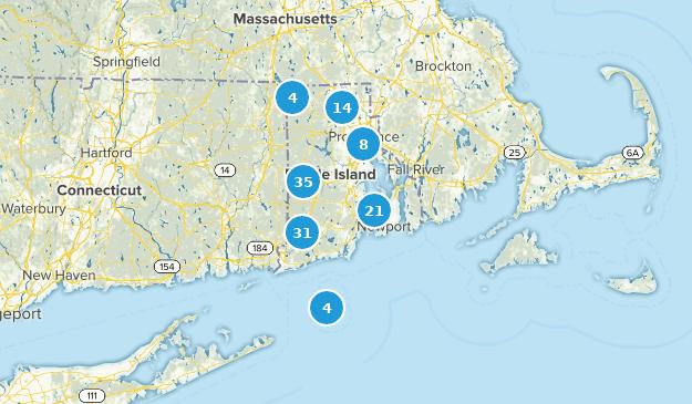 Rhode Island Bird Watching Map