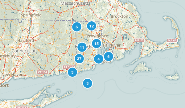 Rhode Island Dogs On Leash Map