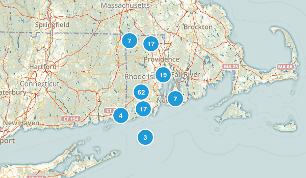 Rhode Island Hiking Map