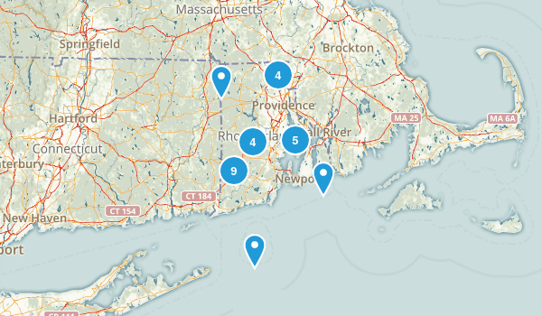 Rhode Island Mountain Biking Map