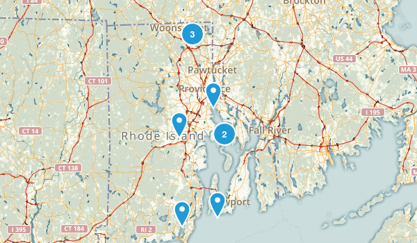 Rhode Island Road Biking Map