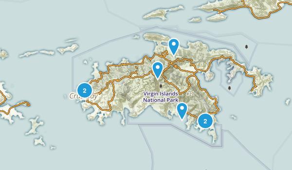 Saint John Beach Map