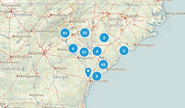 South Carolina Birding Map