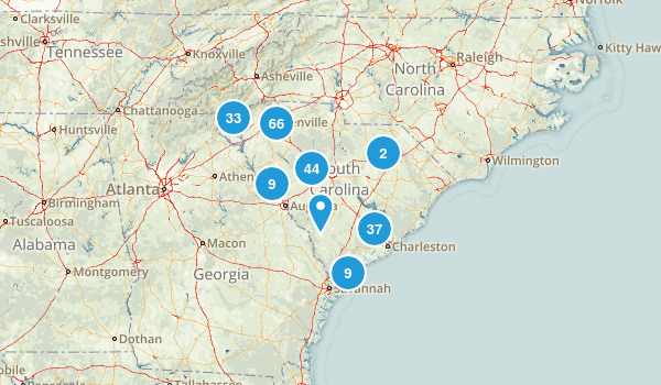 South Carolina Dogs On Leash Map