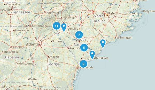 South Carolina Fishing Map