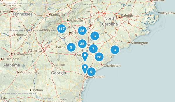 South Carolina Forest Map