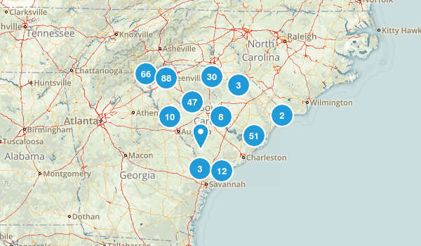 South Carolina Hiking Map