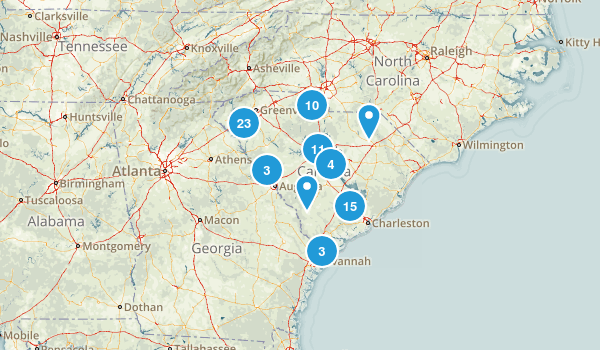 South Carolina Lake Map