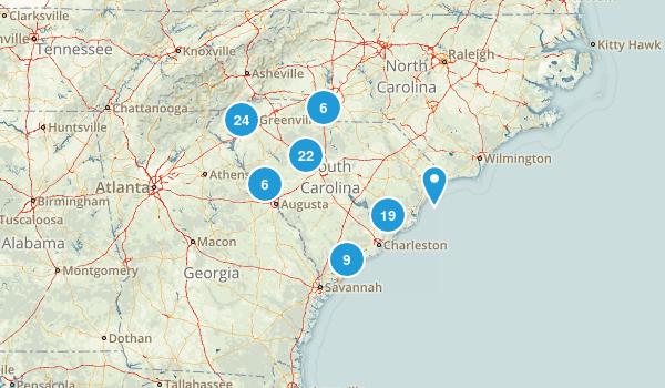 South Carolina Mountain Biking Map