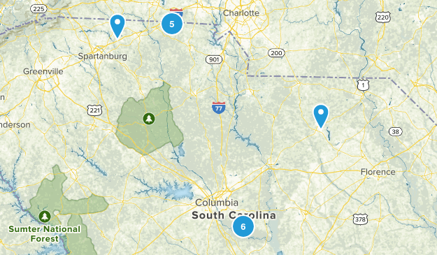 South Carolina National Parks Map