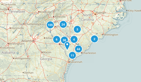 South Carolina Nature Trips Map