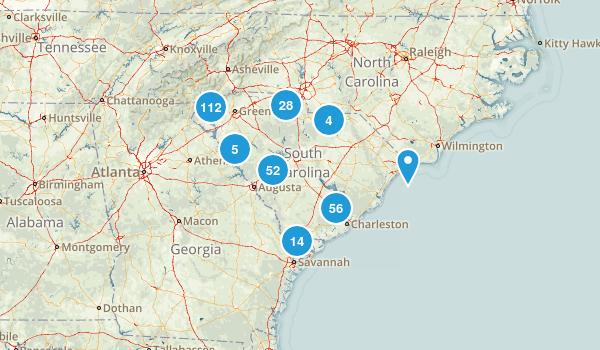 South Carolina Walking Map