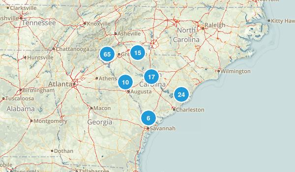 South Carolina Wild Flowers Map